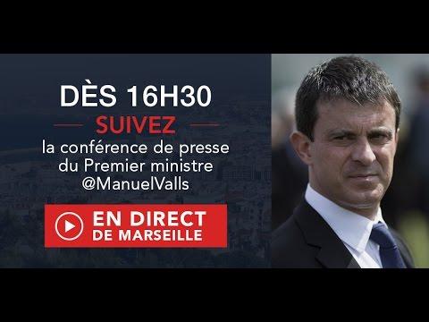 Sécurité à Marseille : conférence de presse de Manuel Valls, Premier ministre