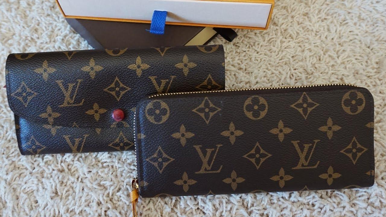 f97b302b73 Louis Vuitton Clemence Vs. Emilie Wallet: Comparison - YouTube
