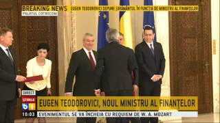 Eugen Teodorovici si Marius Nica au depus juramantul