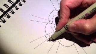 ClassPlan - draw optical illusion, humming doodle ASMR art tutorial