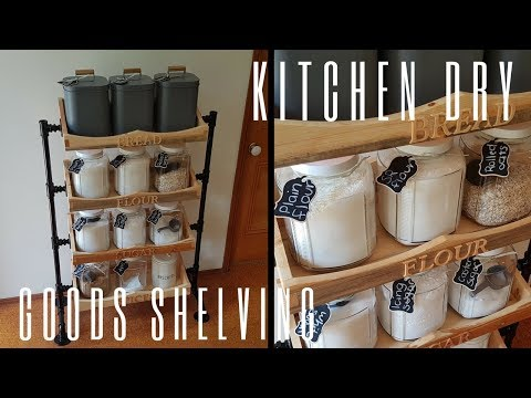 Kitchen Dry Goods Shelves - Woodworking