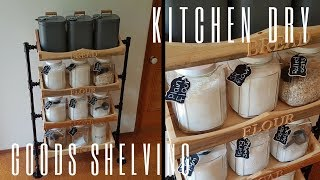 Making Kitchen Dry Goods Shelves - Woodworking