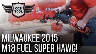Milwaukee M18 FUEL Super Hawg - 2015 Milwaukee Media Event
