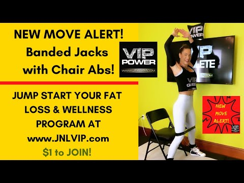 VIP NEW MOVE ALERT!Master Trainer Jennifer Nicole Lee Motivates YOU to KICK BUTT!Chair Abs with Jack