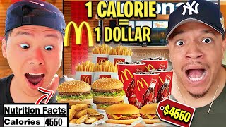 Every CALORIE You Eat, I'll Give You A DOLLAR (FAST FOOD CHALLENGE) 4000+ MCDONALDS FT DAVIDPARODY