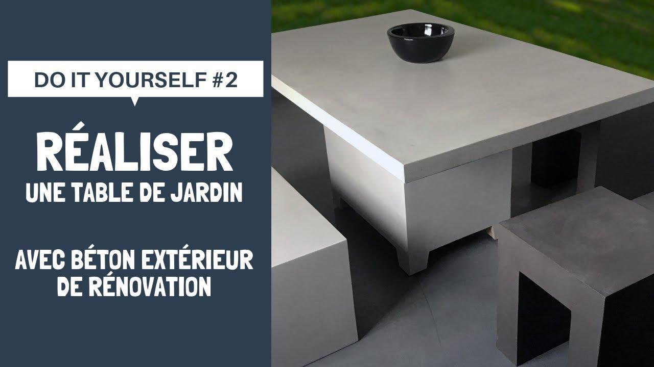 Do It Yourself #2 | Réalisez une table de jardin avec Béton Extérieur de  Rénovation