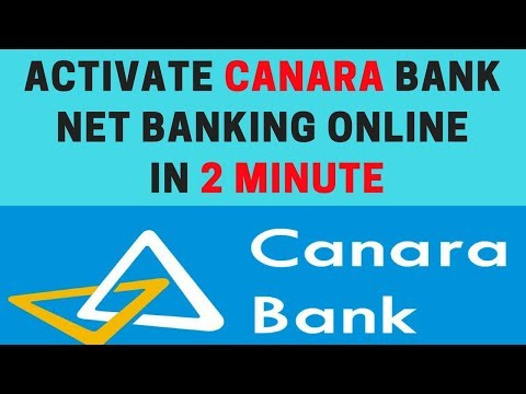 How to activate canara bank net banking online | Canara bank net banking registration online