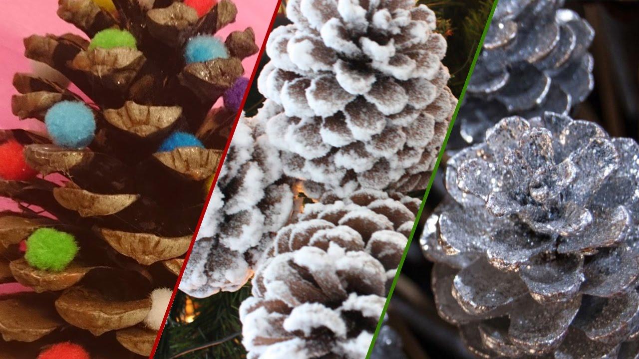 Manualidades navide as pi as de pino decorativas para el - Manualidades navidad con pinas ...