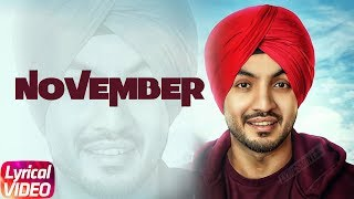 November | Lyrical Video |  Akaal | Parmish Verma | Bittu Cheema | Latest Punjabi Song 2018