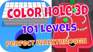 🔥COLOR HOLE 3D🔥ALL 101 Levels🤖Mobile Game Play (iOS, Android)