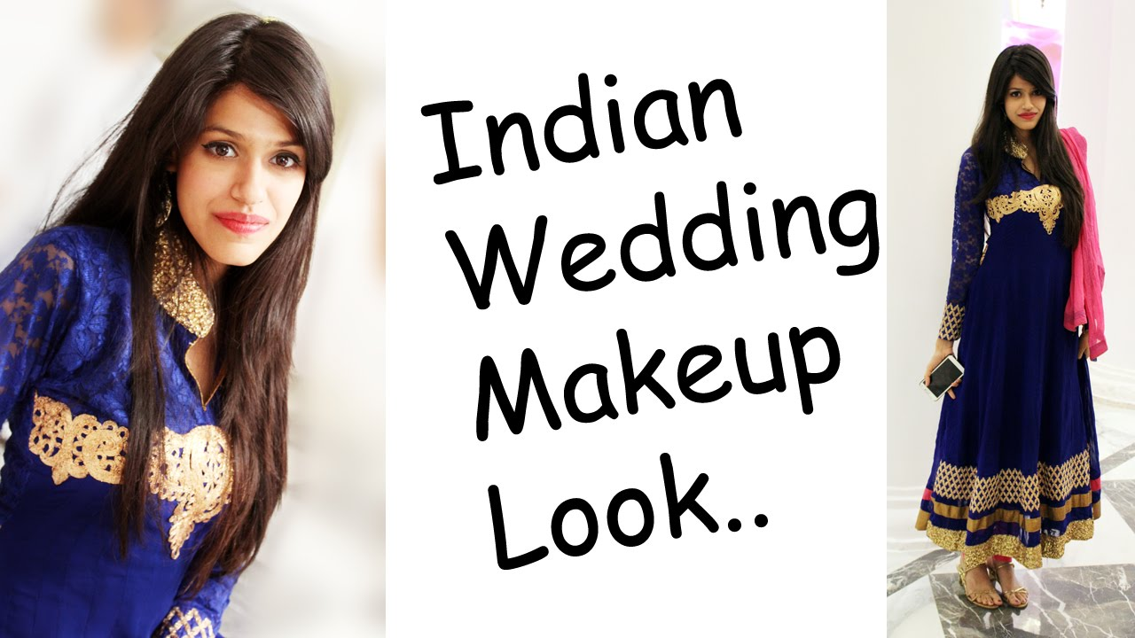 Indian / Desi Traditional Wedding Makeup Look - YouTube