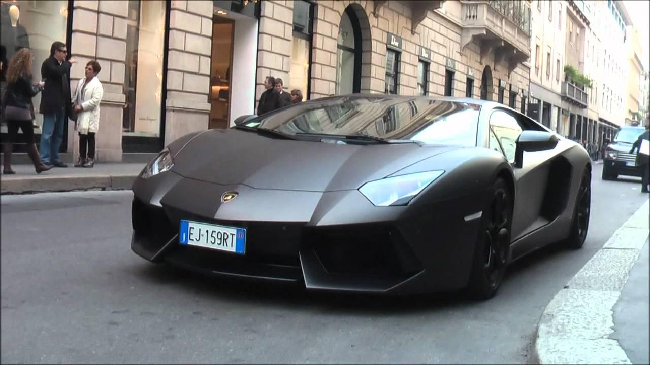 Matte Black Lamborghini Aventador Lp700 4 In Milan Details