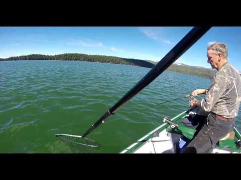 Fishing Diamond Lake From A Wooden Drift Boat