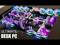 $13000 ULTIMATE Custom Water Cooled Desk Gaming PC Build - Time Lapse - 2080 ti  i9 9980XE