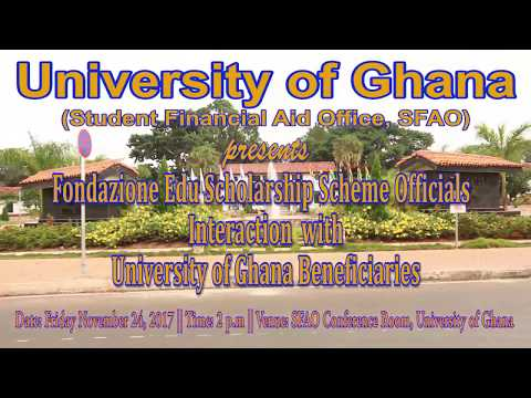 Fondazione Edu Scholarship Scheme officials interaction with University of Ghana beneficiaries