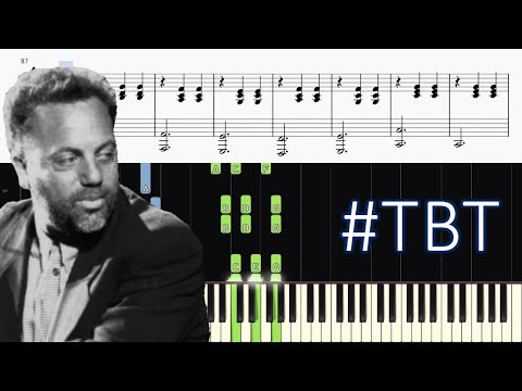 Billy Joel  Piano Man  Piano Tutorial + SHEETS  #tbt