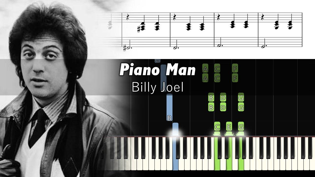 Billy Joel Piano Man Piano Tutorial Sheets Tbt