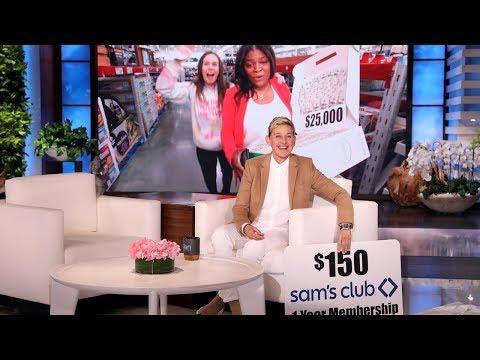 Ellen Sends A Fan On A Sam's Club Holiday Shopping Spree!