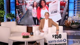 Ellen Sends a Fan on a Sam's Club Holiday Shopping Spree!