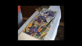 Оформление работы в алмазной технике в багет. Ирисы от Lasko(В этом видео я показываю как оформляла работу в алмазной технике в багет и какие материалы использовала...., 2014-11-08T18:12:47.000Z)