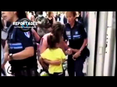 Lille : interpellation musclée d'une maman avec sa fille par la police municipale.