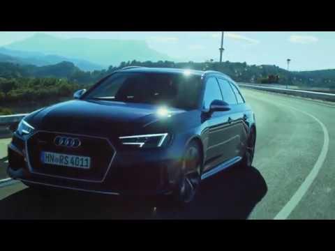 2019 NEW Audi RS 4 Avant - HARD SPORT Driving in Malaga Spain