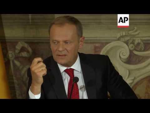 Renzi, Merkel, Tusk, Juncker debate state of EU