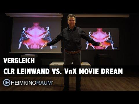 LaserTV / Kurzdistanzbeamer Kontrast Leinwände im Vergleich: VnX Movie Dream und Elite Screens CLR