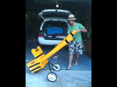Beach cart invention youtube for Homemade fishing cart