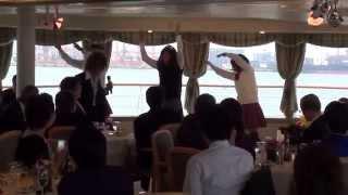 船上結婚式で「あやまんJAPAN」やってみました。