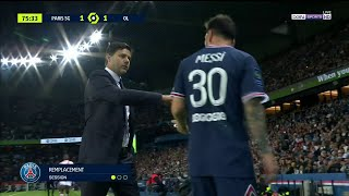 Messi gets subbed out