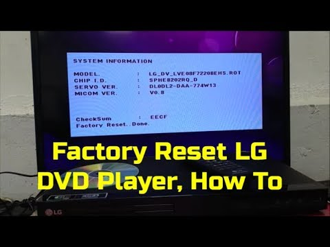 Factory Reset LG DVD Player, How To