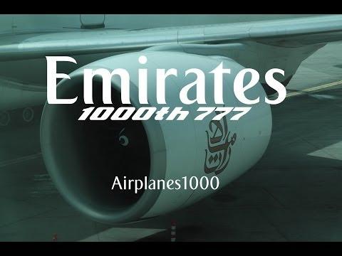Emirates Airline Boeing 777-300ER A6-EGO (The 1000th 777) Dubai to Glasgow *FULL FLIGHT*