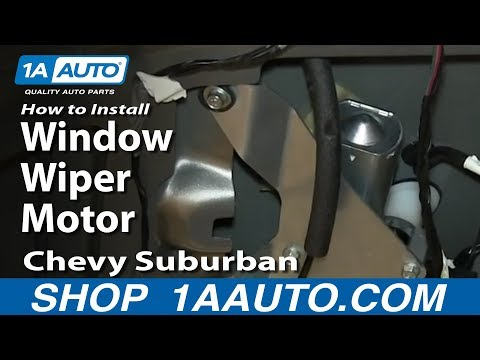 How to change windshield wiper circuit board on chevy for 2000 chevy silverado window motor replacement