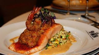 White River Conference Center - New Orleans Salmon With Crab Andouille Stuffing And Cajun Cream