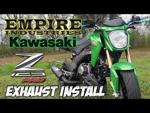 Kawasaki Z125 Empire Industries Exhaust Install & Review