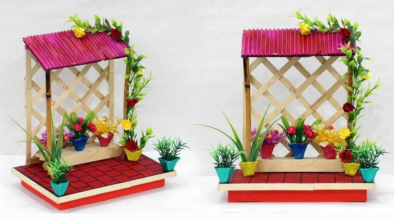 Diy Cardboard House Home Decoration Idea Best Out Of Waste Home Decoration Using Cardboard Youtube