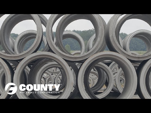 County Materials Manufacturers Concrete Pipe for Massive Foxconn Campus