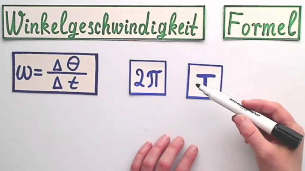 Winkelgeschwindigkeit die Formel einfach erklärt - YouTube