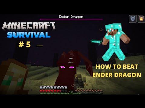 Ender Dragon Minecraft   Defeating Ender Dragon   Beat Ender Dragon In Minecraft