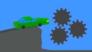 Extreme Car Crashes  Phun Algodoo Moments