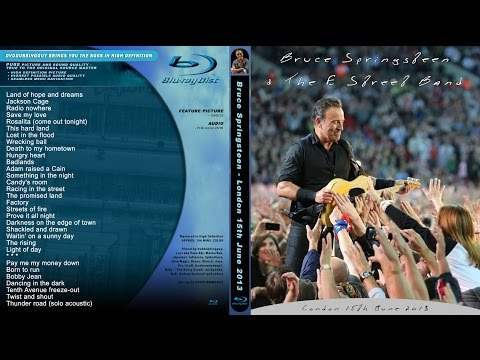 Bruce Springsteen - London - Wembley Stadion 2013 full show video