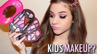 One of Senay Bostancioglu's most viewed videos: FULL FACE USING ONLY KIDS MAKEUP Challenge | Senay Bostancioglu