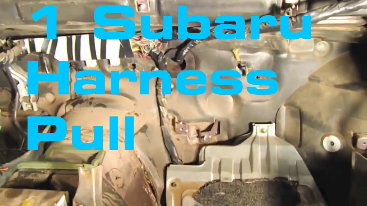 1 Subaru Harness Pull Wiring Series Youtube Ej22