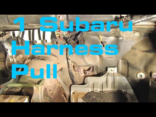 1 subaru harness pull wiring harness series youtube