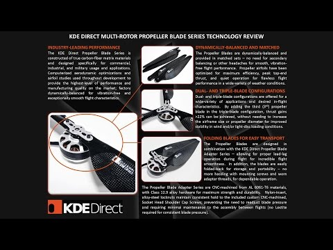 KDE Direct Design Engineering - Episode XI: Carbon-Fiber Propeller Blade Series