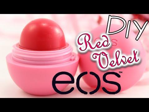 EOS selber machen DEUTSCH I DIY EOS Red Velvet Lip Balm I Geschenkidee