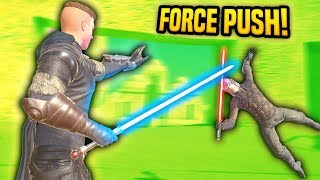 NEW JEDI ABILITIES USING FORCE PUSH - Blades and Sorcery VR Mods (Update 7)