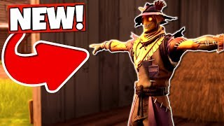 "FORTNITE NEW ""HAY-MAN"" SCARESCROW SKIN, HARVESTER PICKAXE + FIELD WRAITH GLIDER GAMEPLAY!"