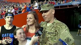 Florida Gators: Military Homecoming Surprise 10-3-15